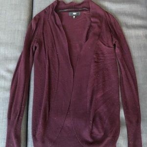 Burgundy cardigan sweater